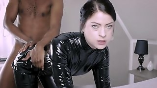 PVC Outfit Slut Submissive Blowjob