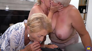 Hungry grannies attack young boy