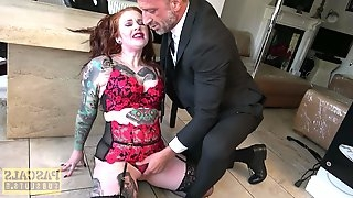 Hardcore fucking in the kitchen with desirable wife Edi Alvina