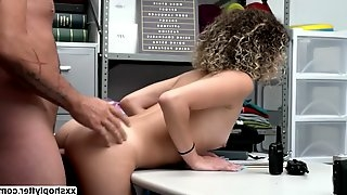 Shoplifter Teen Allie Addison trades her pussy for her freedom