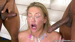 Dirty pornstar Adira Allure gets fucked b lot of black dudes