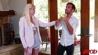 Passionate fucking all over the bedroom with busty wife Mikki Lynn