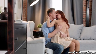 Voluptuous ginger girlfriend Elnara Cat gets a mouthful of cum log in investigate passionate coition