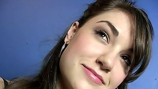 Sasha Grey moans with pleasure while sucking a gloryhole boner