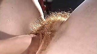 Perverted games with a hairy mature