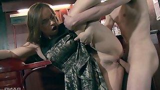 Olga Cabaeva wearing a sexy white bra and receiving a boner