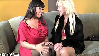 Seductive Ava Devine toying the fuck hole of her lesbian honey