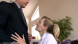 Polish chick Natasha Starr gets her ass hole rammed after a deepthroat blowjob