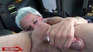 Skinny MILF Rimming In The Car
