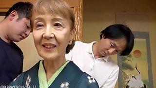 Ready for the lifetime lesbian orgasm milf Asano Taeko enjoys a threesome